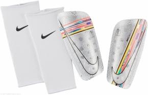 Nike Mercurial Lite Schienbeinschoner Gr. L white/multi