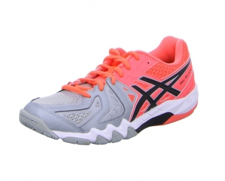 Asics Gel-Blade 5 Damen 39 / Synthetik / orange-grau