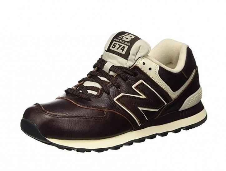 New Balance ML574UA Leder-Sneaker für Herren 41,5 / Leder / braun