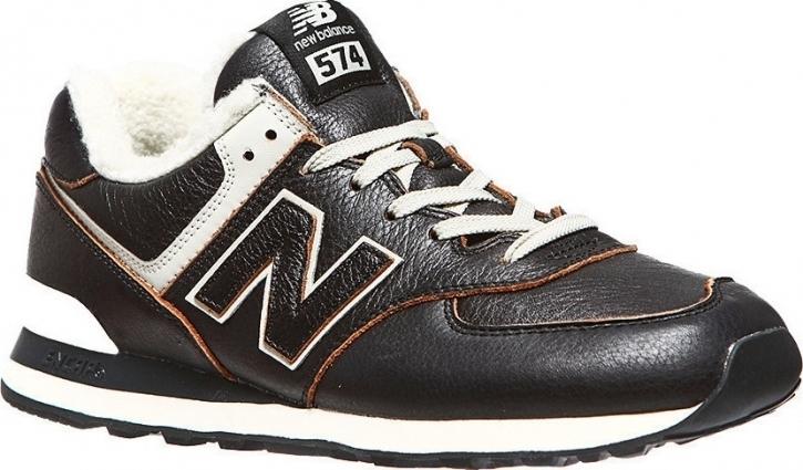 New Balance ML574WNE Herren schwarz / 42 / Leder