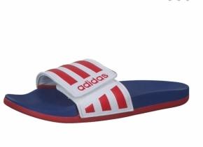 Adidas Adilette Comfort ADJ 40,5 / weiß - rot - b
