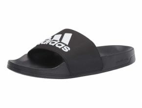Adidas Adilette Shower 40,5 / Synthetik / schwarz - weiß