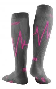 CEP Heartbeat Socken Damen IV / vulcan flame